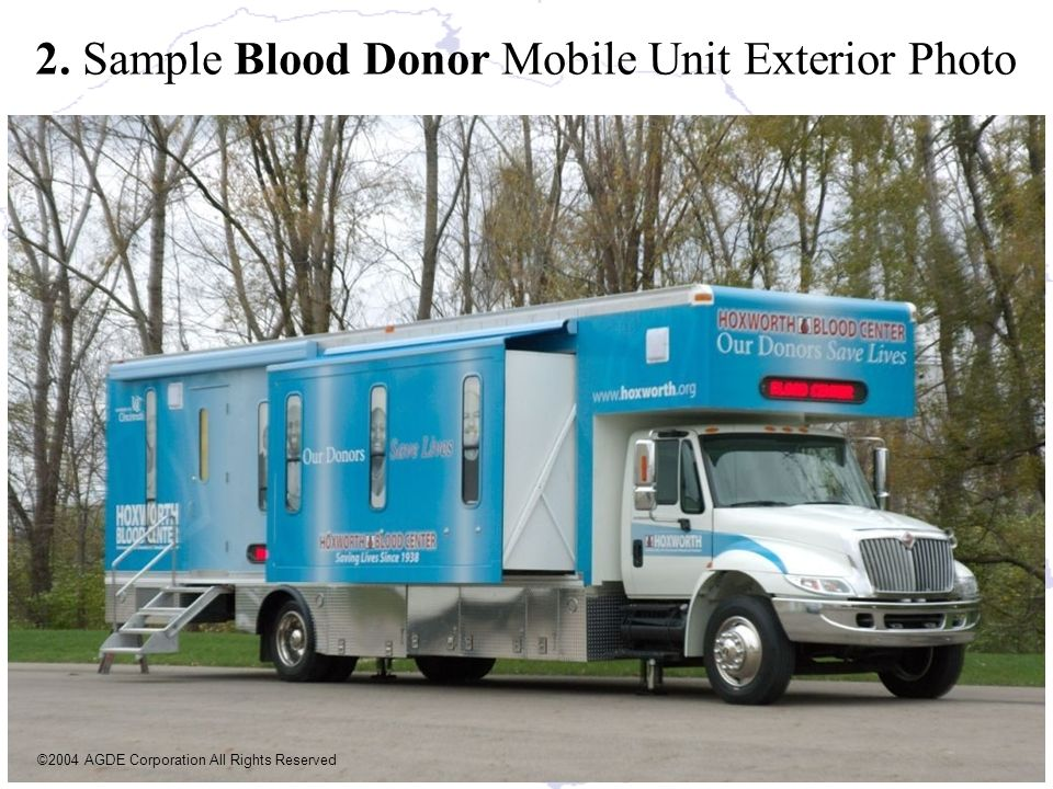 2. Sample Blood Donor Mobile Unit Exterior Photo