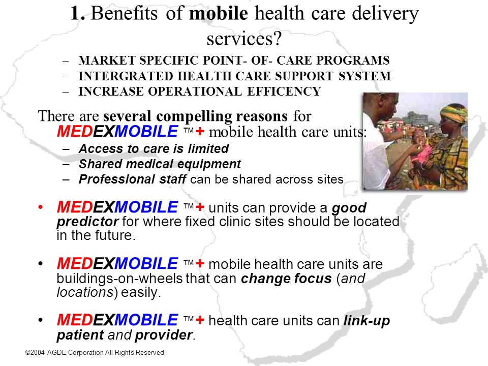 1. Benefits of mobile health care delivery services
