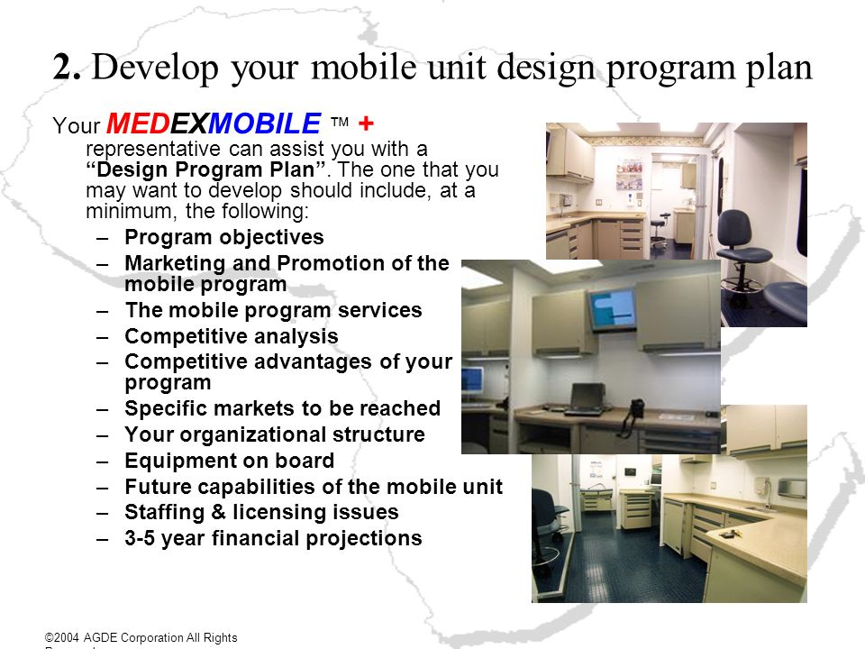 2. Develop your mobile unit design program plan