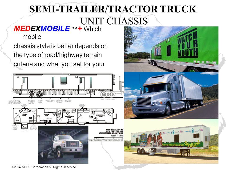 SEMI-TRAILER/TRACTOR TRUCK UNIT CHASSIS