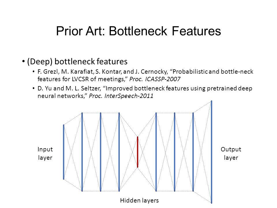 Prior Art: Bottleneck Features