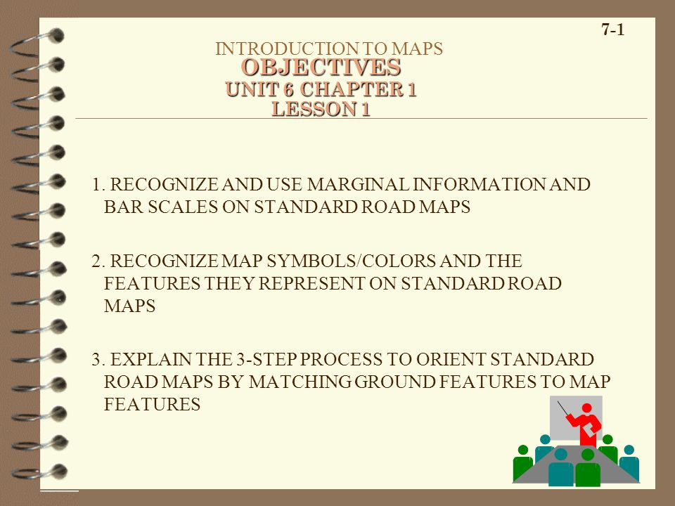 OBJECTIVES INTRODUCTION TO MAPS UNIT 6 CHAPTER 1 LESSON 1