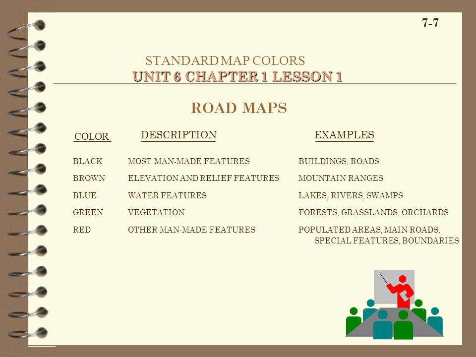 STANDARD MAP COLORS UNIT 6 CHAPTER 1 LESSON 1