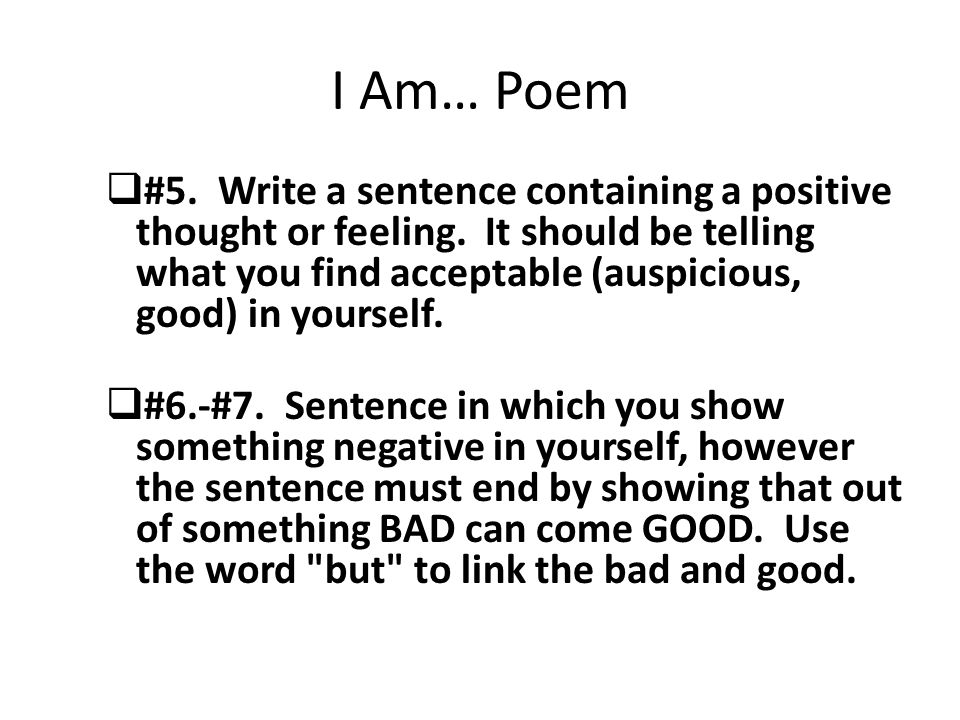 Write An I Am Poem Online Dictionary