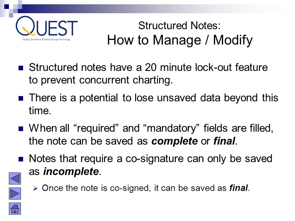 How to Manage / Modify Structured Notes:
