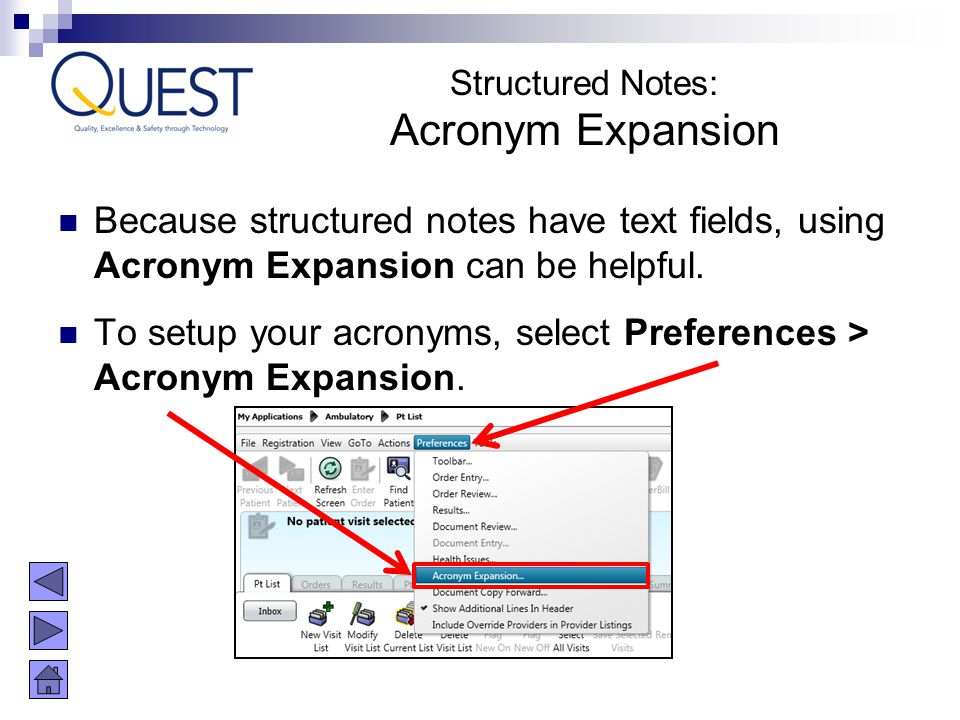Structured Notes: Acronym Expansion. Because structured notes have text fields, using Acronym Expansion can be helpful.