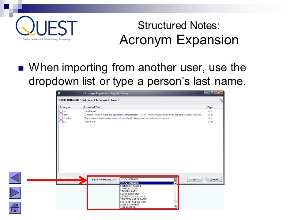 Structured Notes: Acronym Expansion.