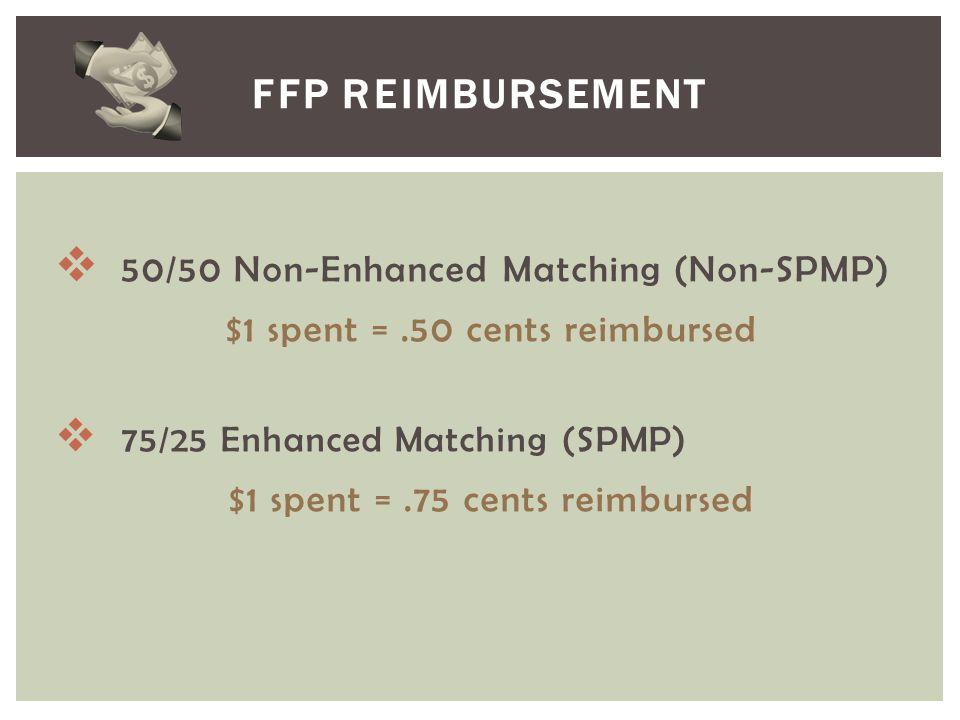 FFP Reimbursement 50/50 Non-Enhanced Matching (Non-SPMP)