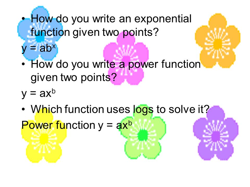 How do you write an exponential function given two points