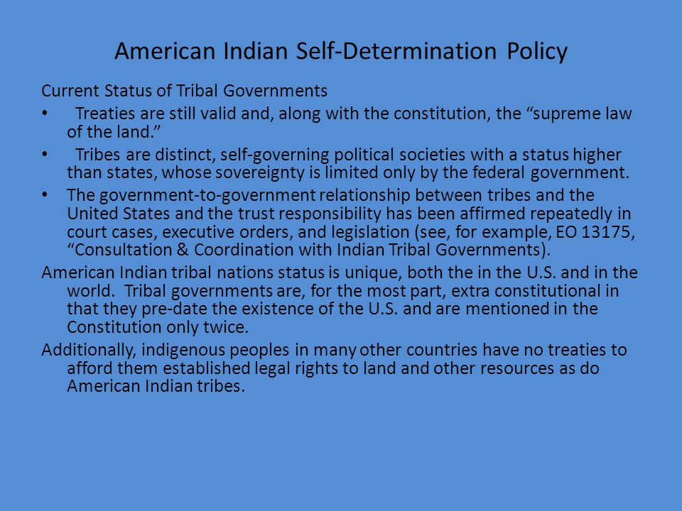 American Indian Self-Determination Policy