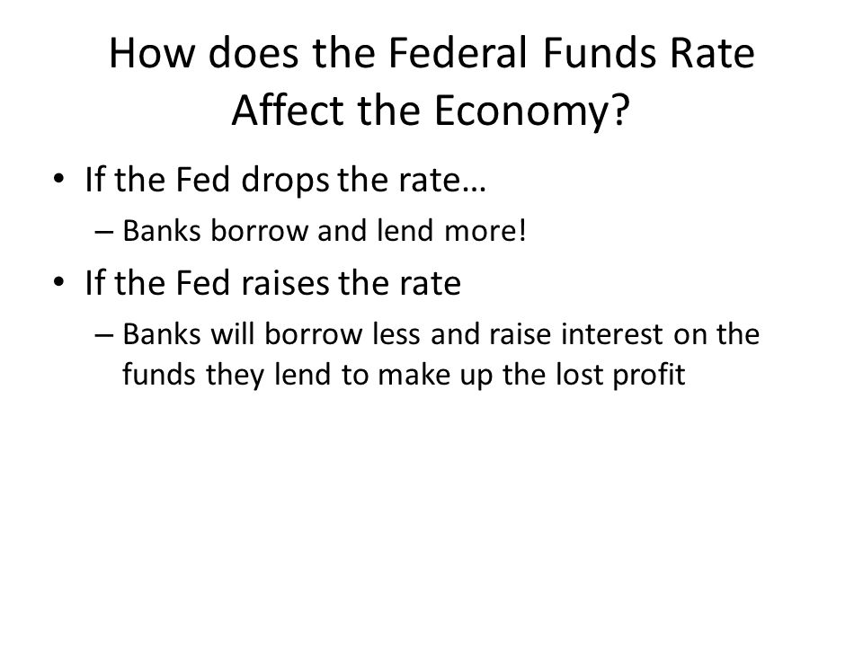 How does the Federal Funds Rate Affect the Economy