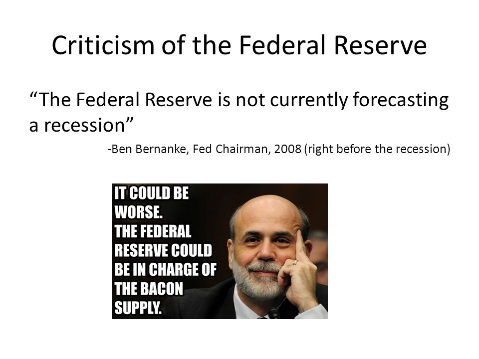 Criticism of the Federal Reserve