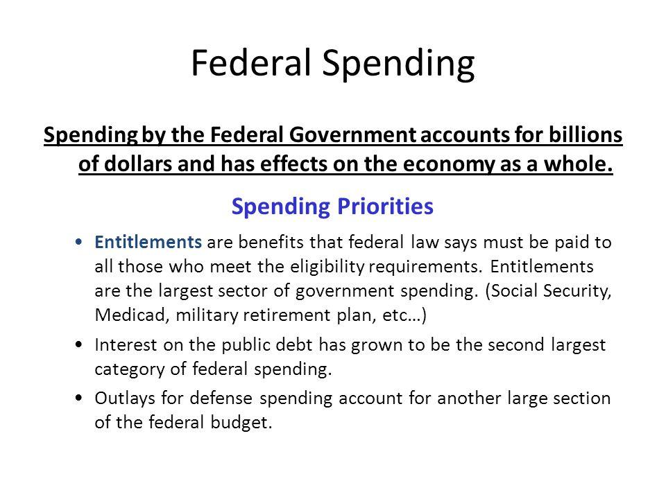 Federal Spending Spending Priorities