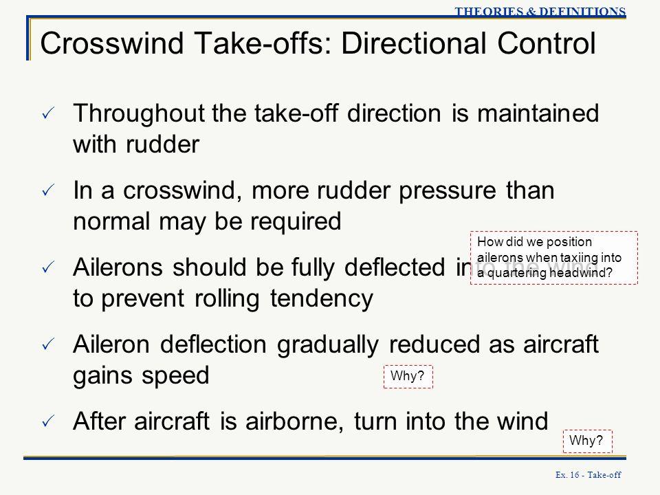 Crosswind Take-offs: Directional Control