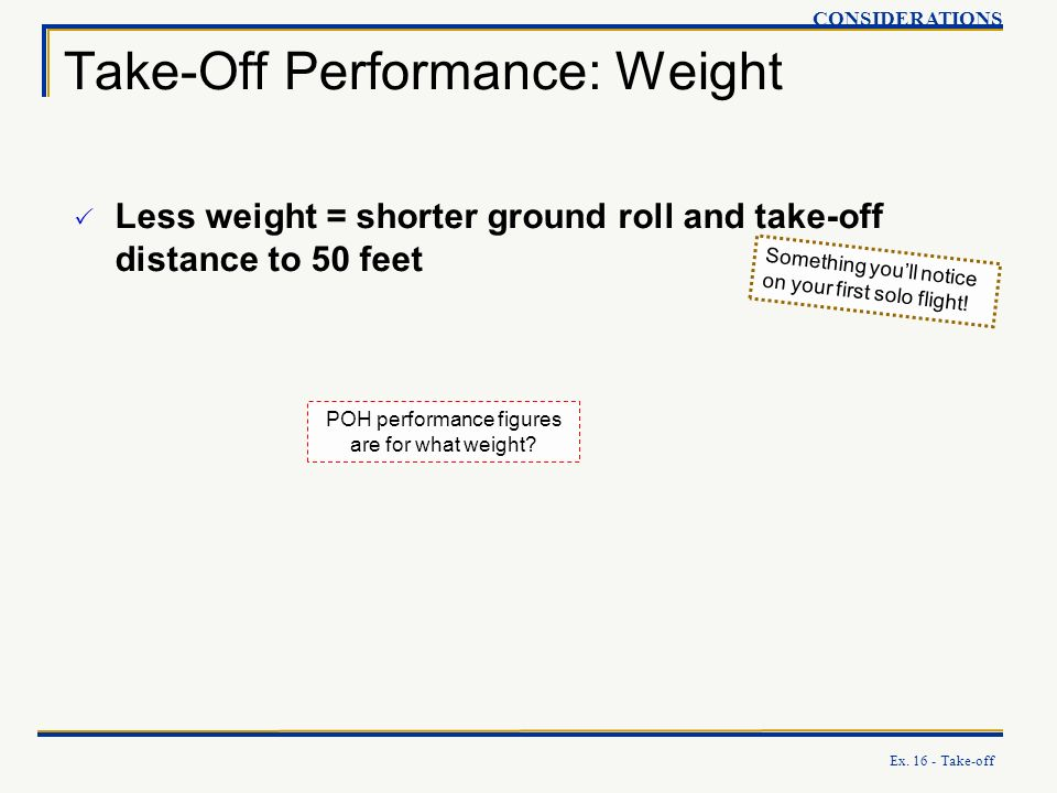 Take-Off Performance: Weight