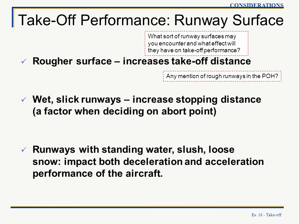 Take-Off Performance: Runway Surface