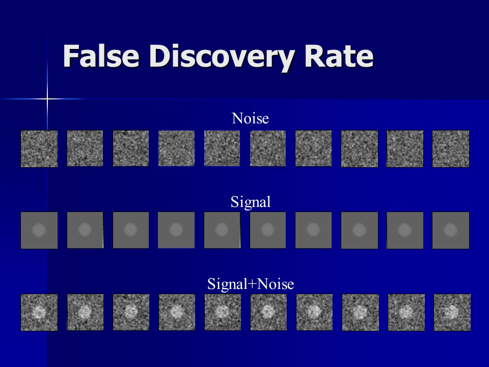 False Discovery Rate Noise Signal Signal+Noise