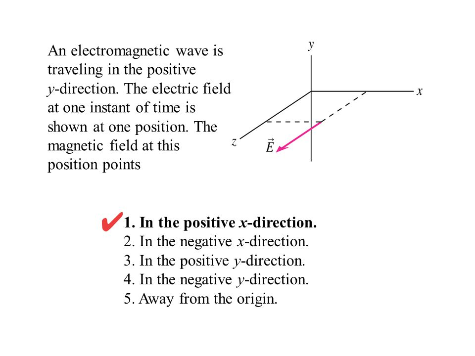 1. In the positive x-direction. 2. In the negative x-direction.