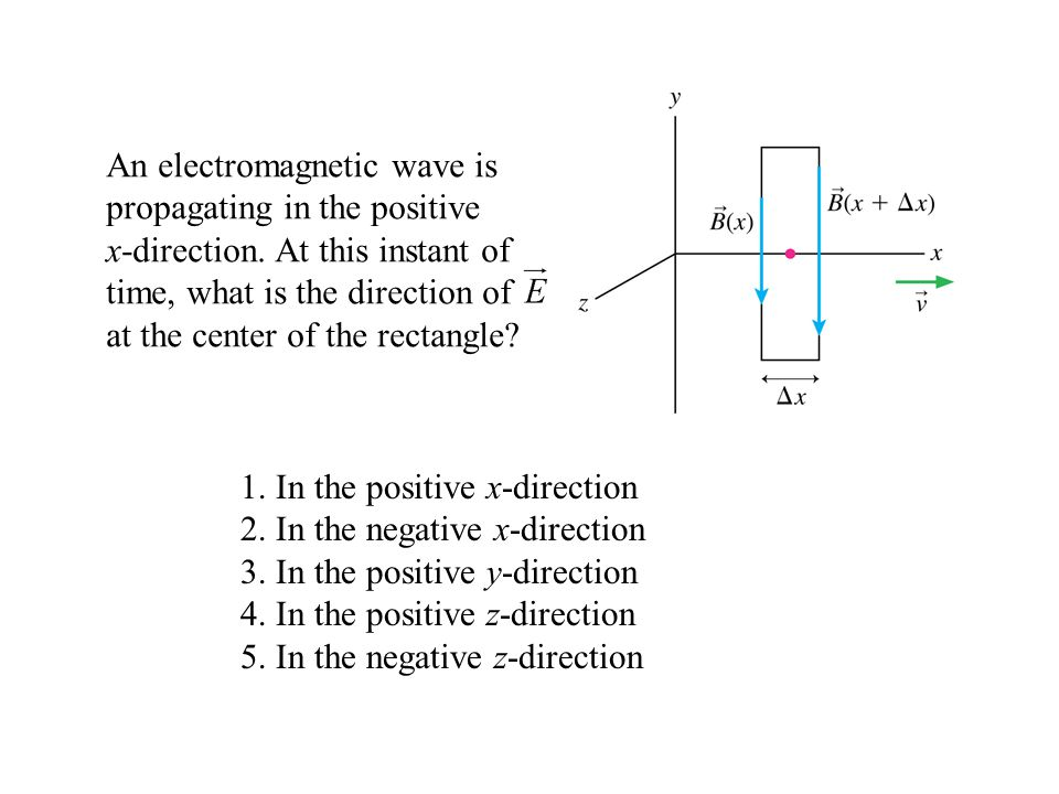 1. In the positive x-direction 2. In the negative x-direction