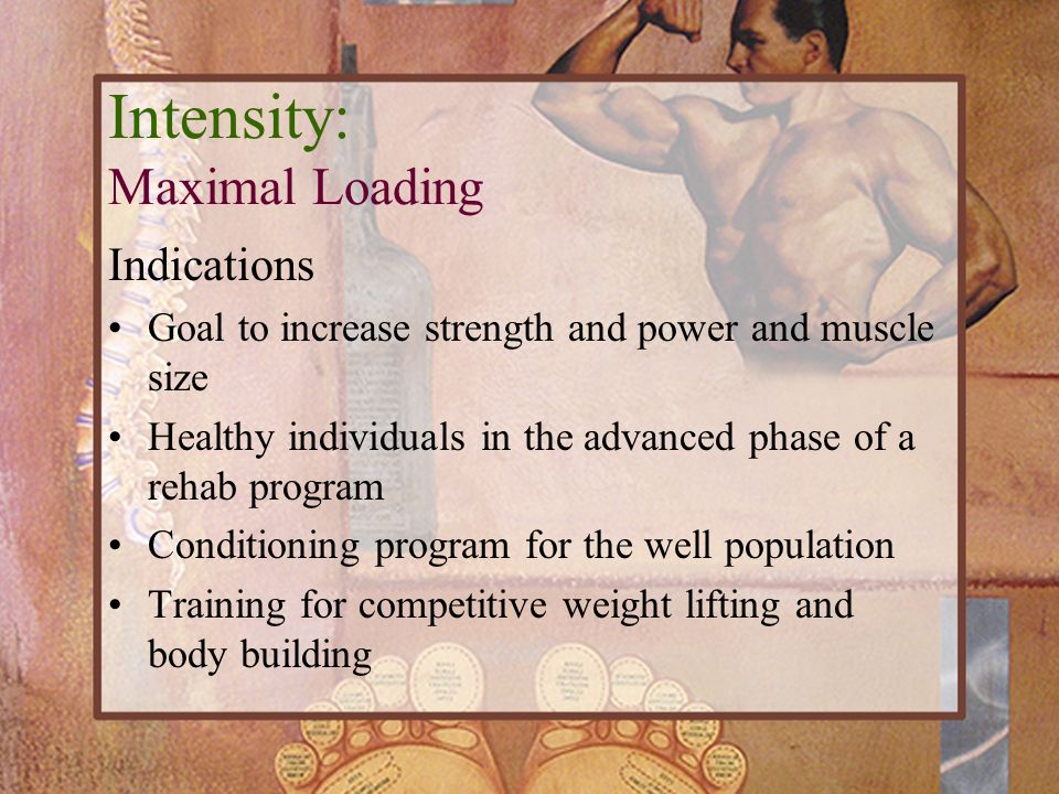 Intensity: Maximal Loading