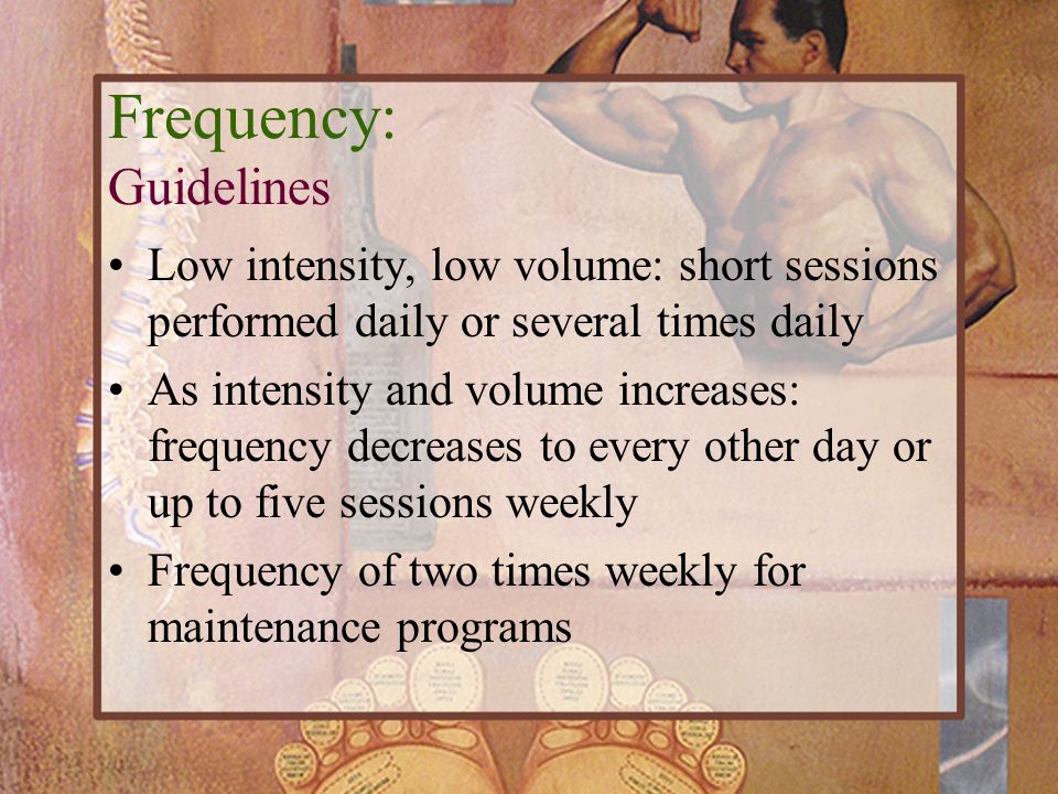Frequency: Guidelines