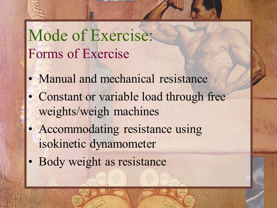 Mode of Exercise: Forms of Exercise