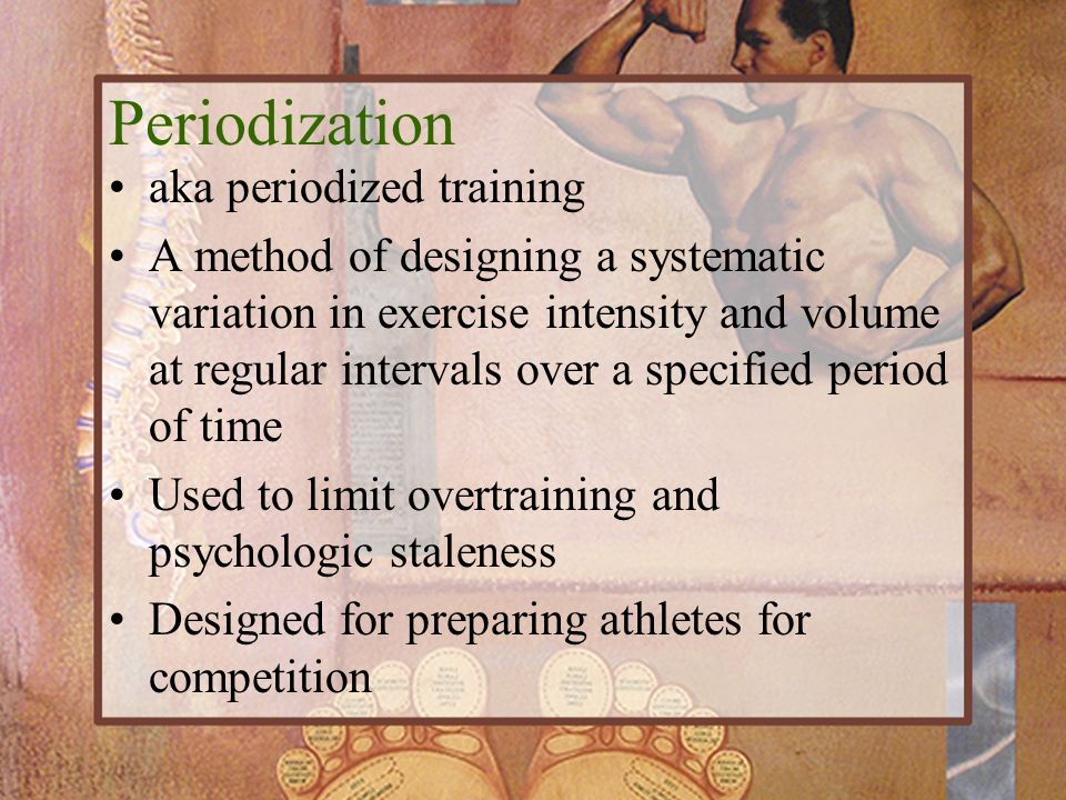 Periodization aka periodized training