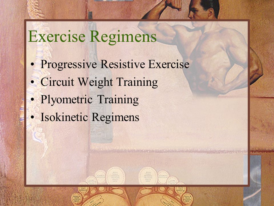 Exercise Regimens Progressive Resistive Exercise