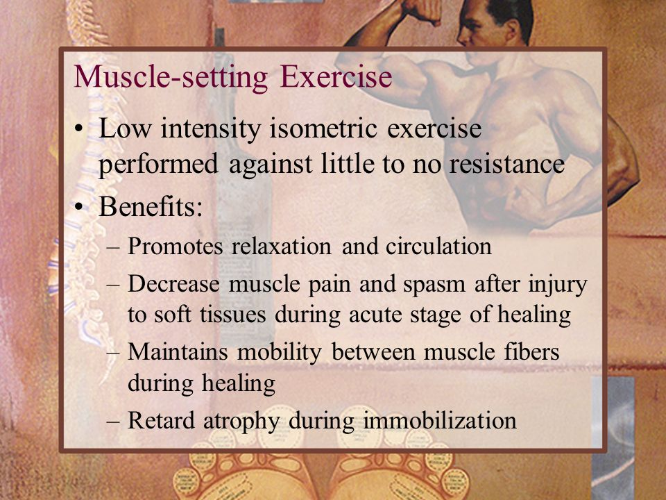 Muscle-setting Exercise