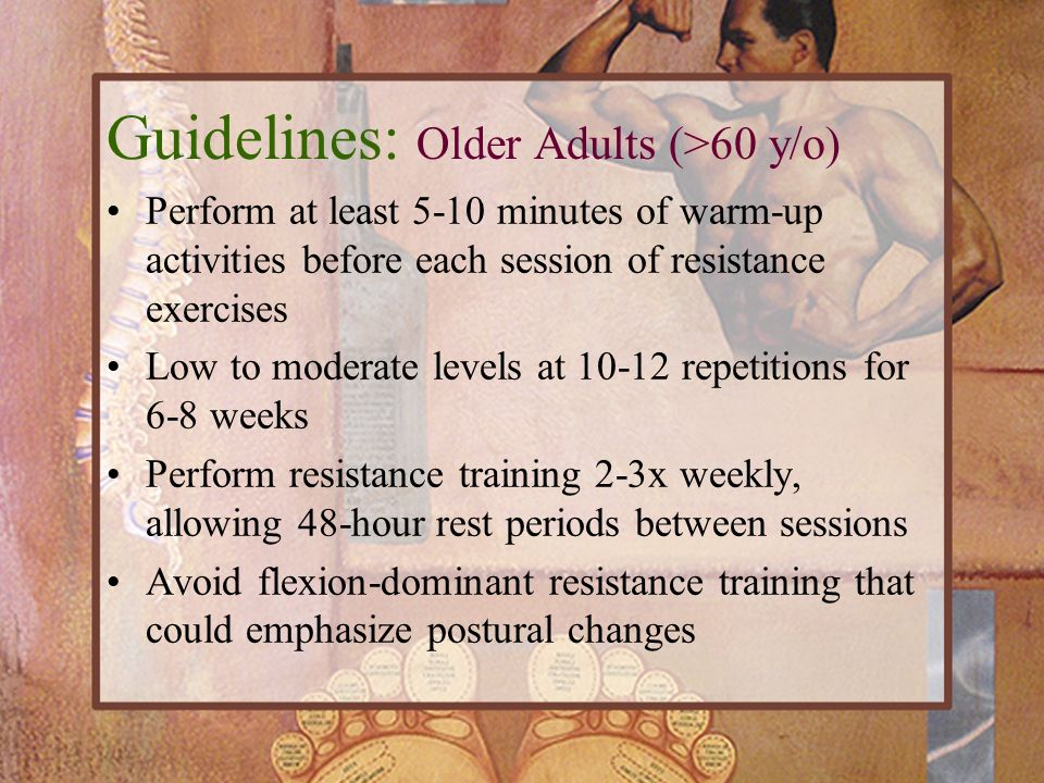 Guidelines: Older Adults (>60 y/o)