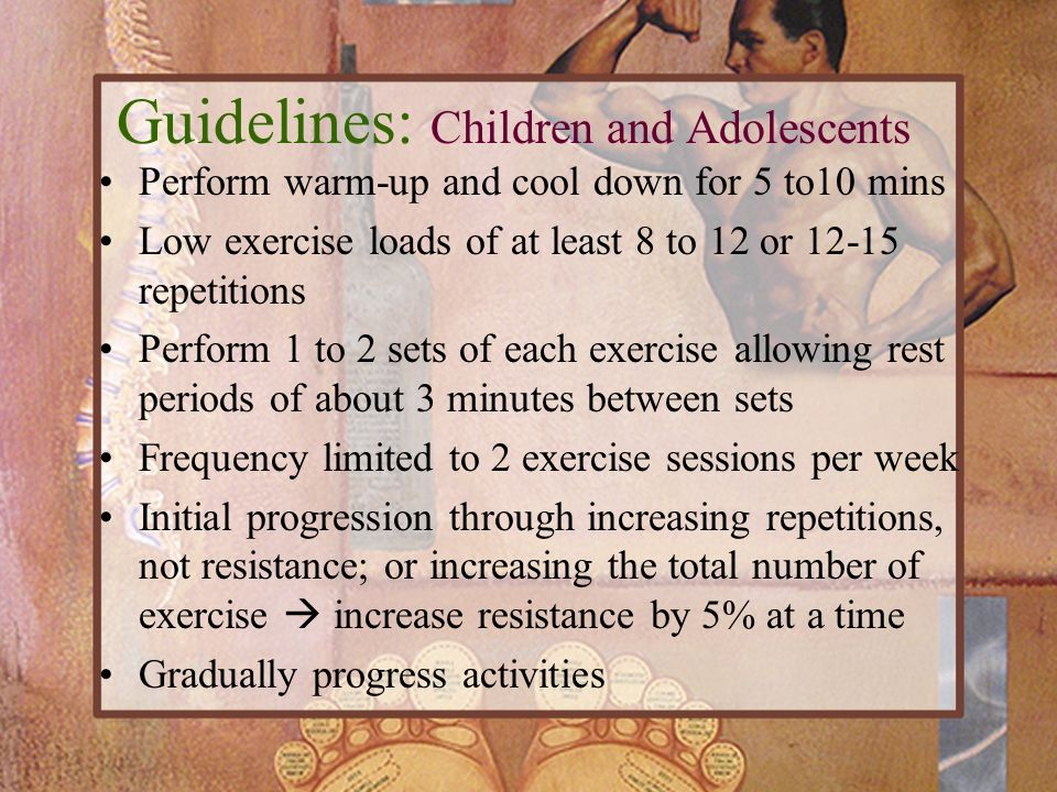 Guidelines: Children and Adolescents