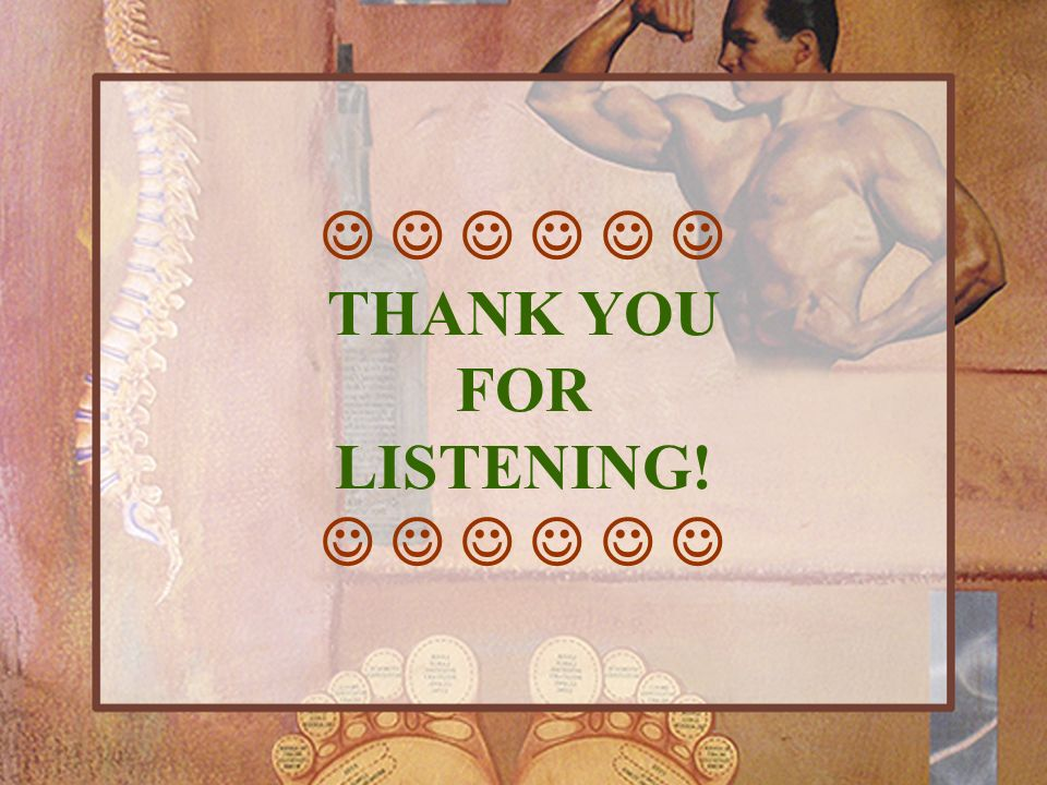       THANK YOU FOR LISTENING!      