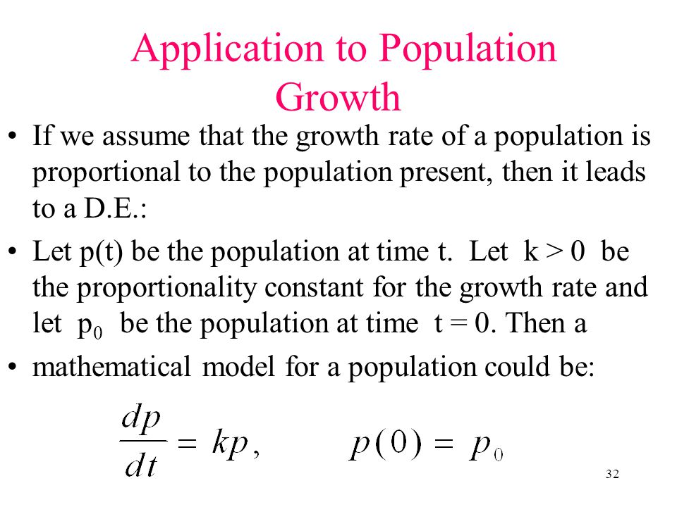 Application to Population Growth