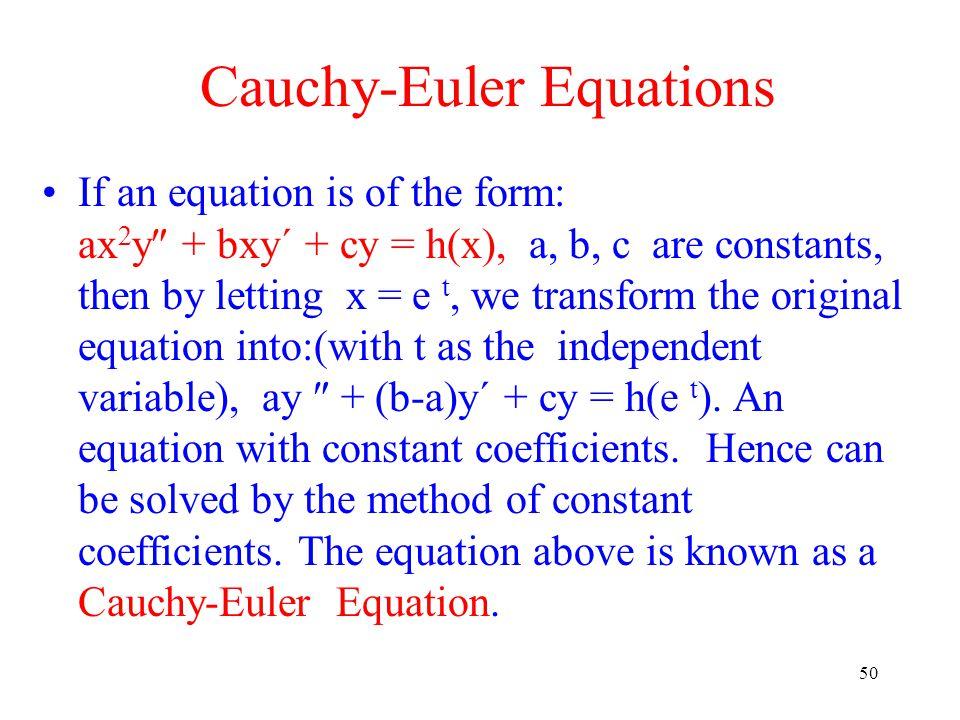Cauchy-Euler Equations