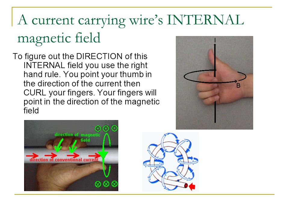 A current carrying wire's INTERNAL magnetic field