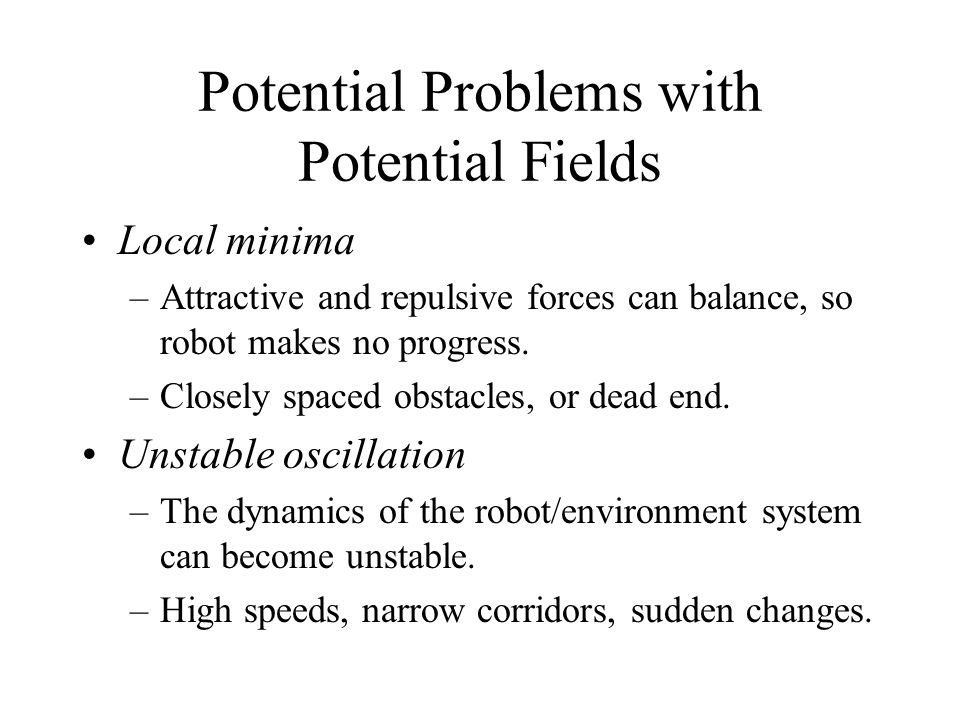 Potential Problems with Potential Fields