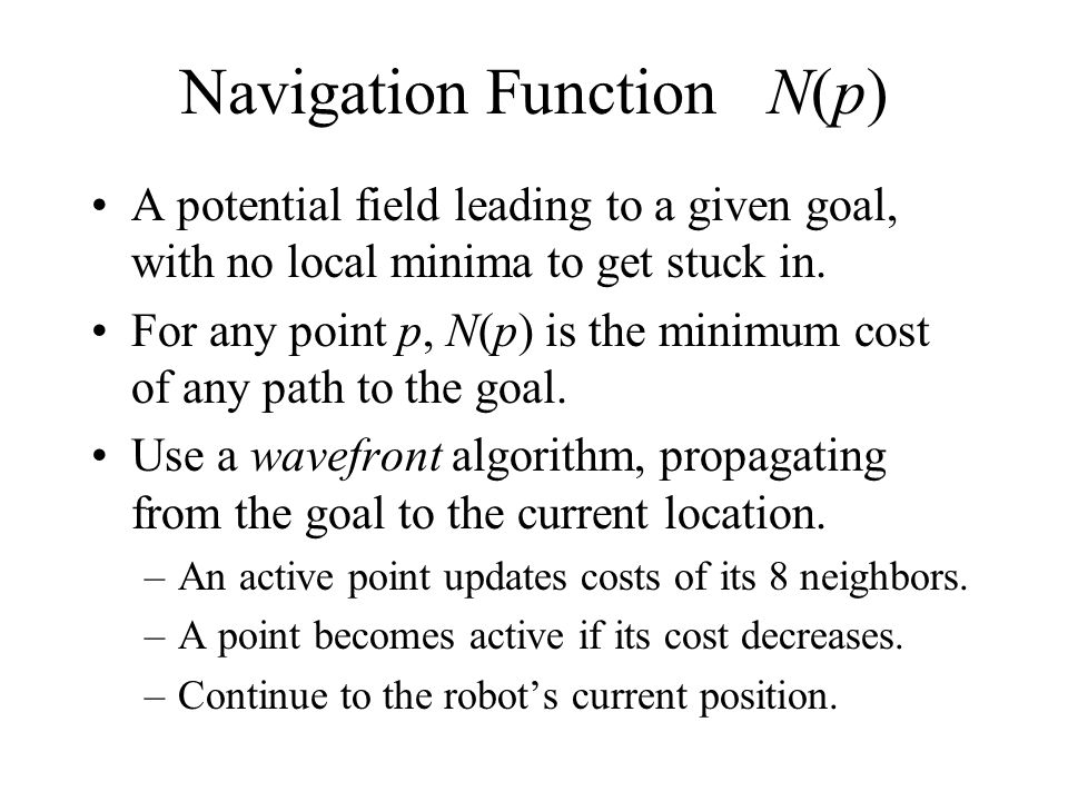 Navigation Function N(p)