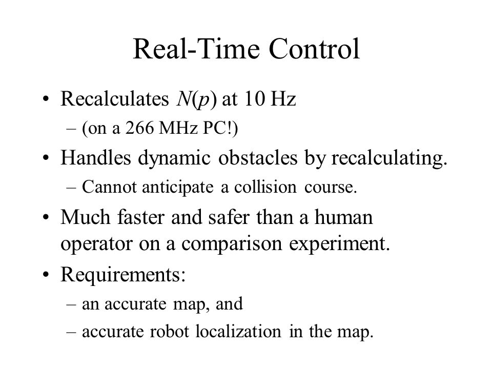 Real-Time Control Recalculates N(p) at 10 Hz
