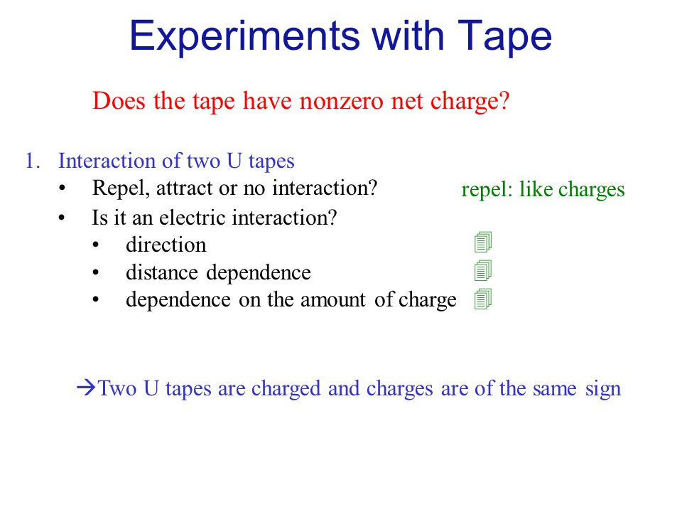 Experiments with Tape Does the tape have nonzero net charge