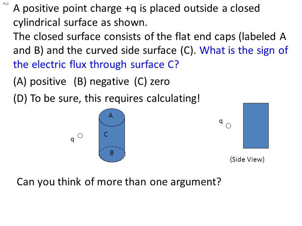 (A) positive (B) negative (C) zero