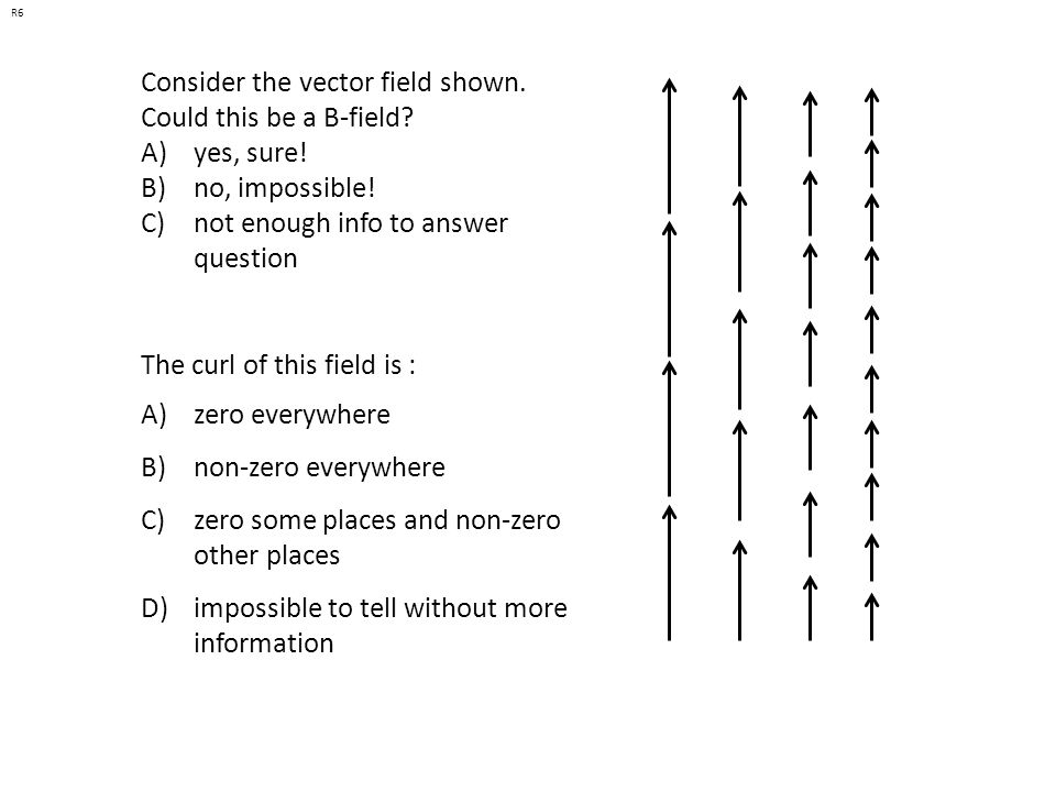 Consider the vector field shown. Could this be a B-field yes, sure!
