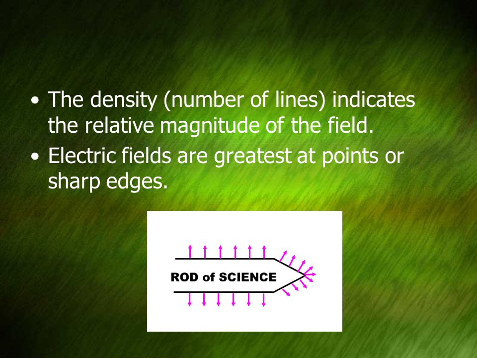 The density (number of lines) indicates the relative magnitude of the field.
