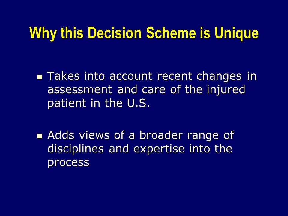 Why this Decision Scheme is Unique