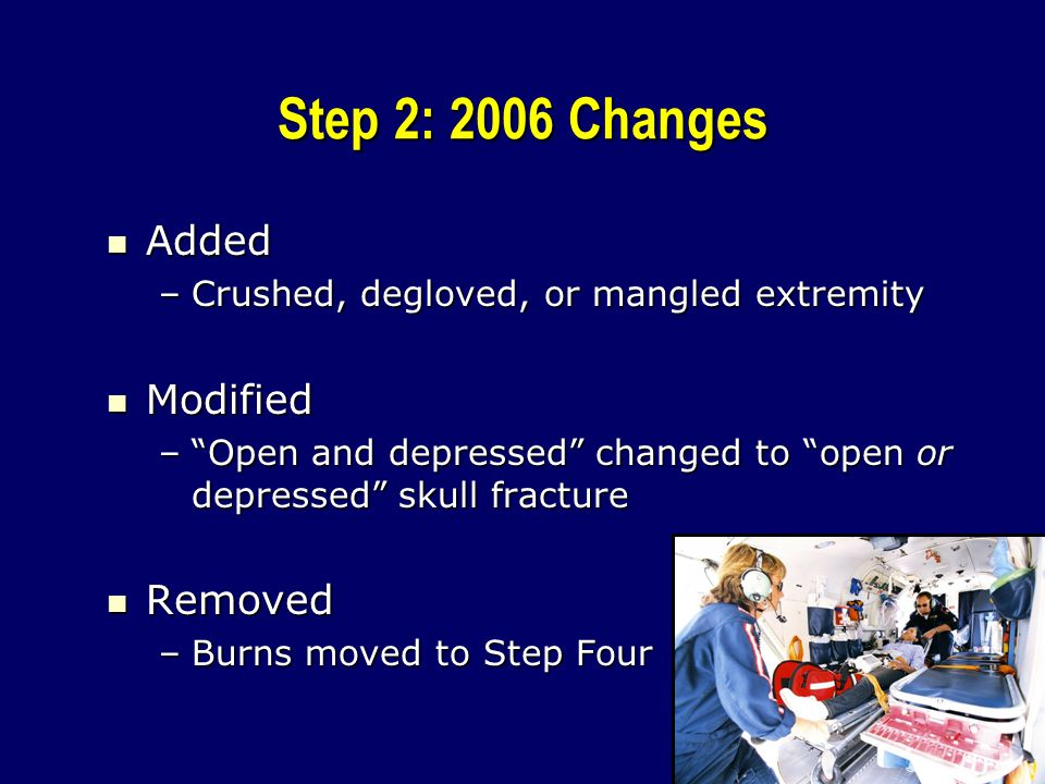 Step 2: 2006 Changes Added Modified Removed