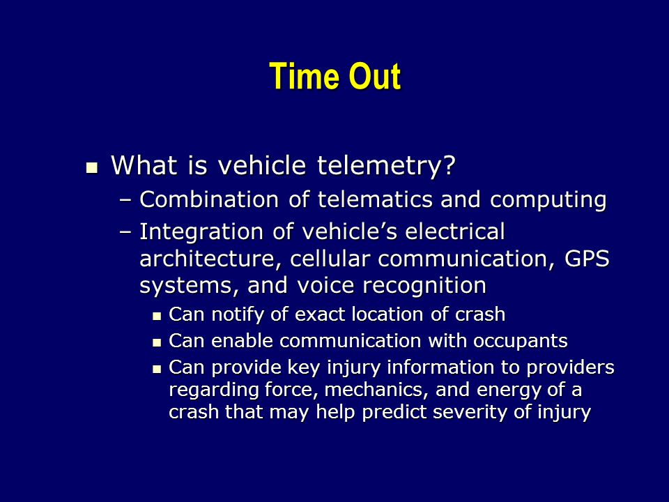 Time Out What is vehicle telemetry