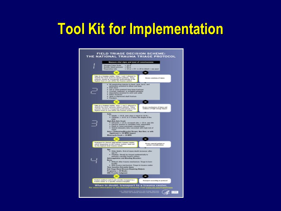 Tool Kit for Implementation