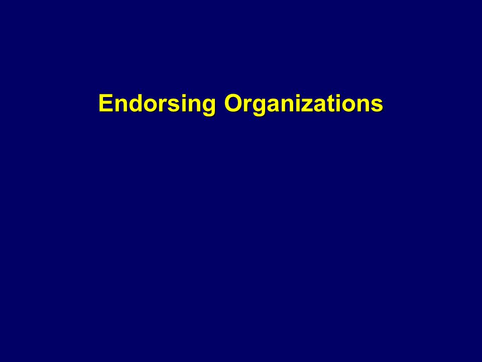 Endorsing Organizations