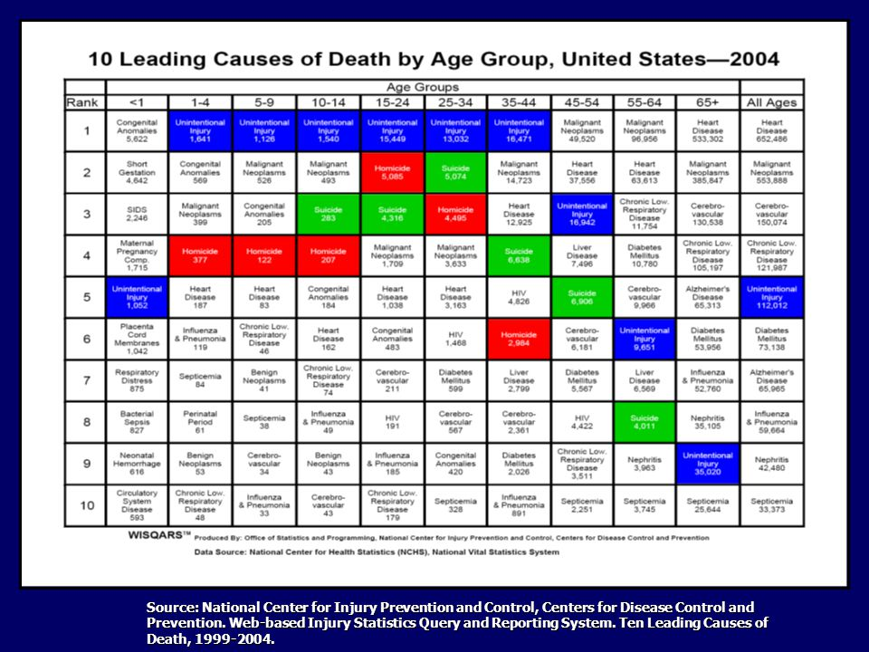 Injury is the leading cause of death for Americans ages 1-44