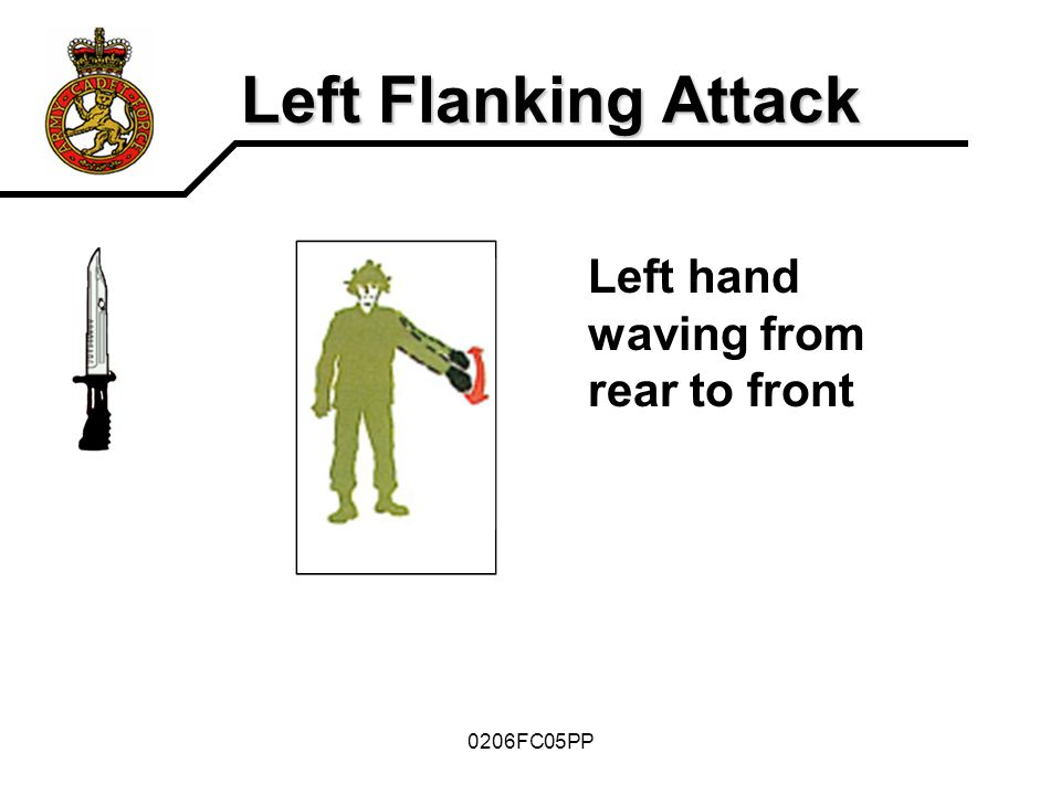 Left Flanking Attack Left hand waving from rear to front 0206FC05PP