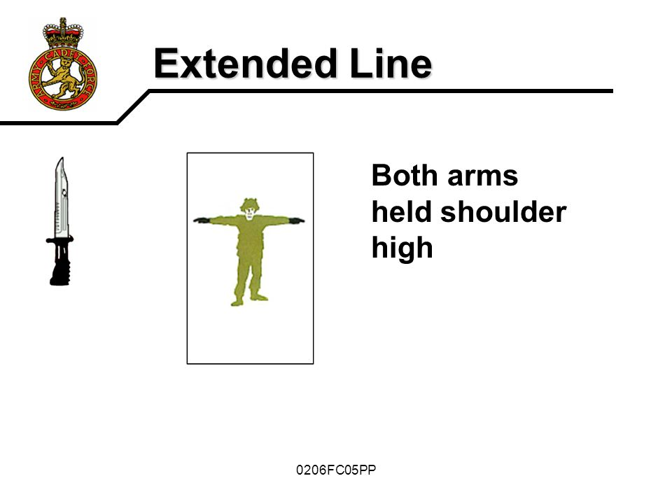 Extended Line Both arms held shoulder high 0206FC05PP